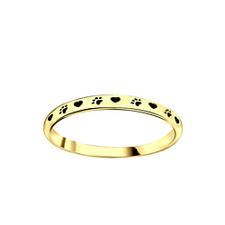 Wholesale Sterling Silver Paw Print Ring - JD5493