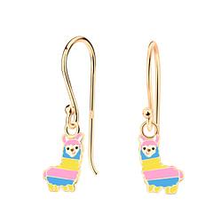 Wholesale Sterling Silver Alpaca Earrings - JD4621