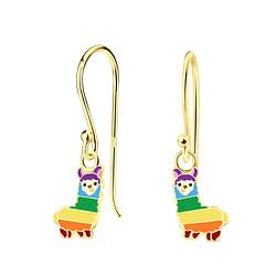 Wholesale Sterling Silver Alpaca Earrings - JD4624