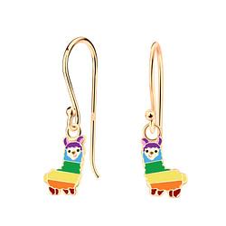 Wholesale Sterling Silver Alpaca Earrings - JD4625