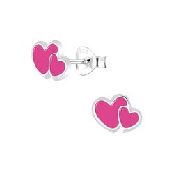 Wholesale Sterling Silver Heart Ear Studs - JD5881