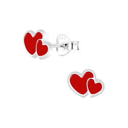 Wholesale Sterling Silver Heart Ear Studs - JD5878