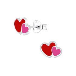Wholesale Sterling Silver Heart Ear Studs - JD5940