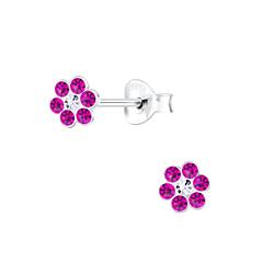 Wholesale Sterling Silver Flower Ear Studs - JD7190