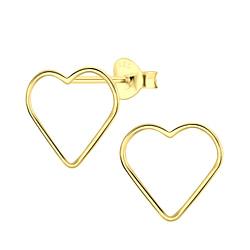 Wholesale Sterling Silver Heart Ear Studs - JD4803