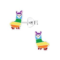 Wholesale Sterling Silver Alpaca Ear Studs - JD4588