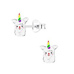Wholesale Sterling Silver Alpaca Ear Studs - JD3855