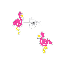 Wholesale Sterling Silver Flamingo Ear Studs - JD9189