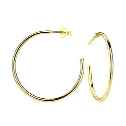 Wholesale Sterling Silver Half Hoop Ear Studs - JD9940