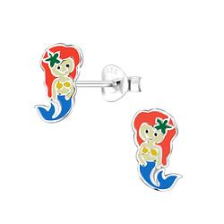 Wholesale Sterling Silver Mermaid Ear Studs - JD8050