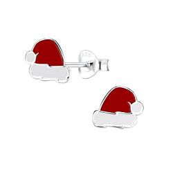Wholesale Sterling Silver Santa Hat Ear Studs - JD9667