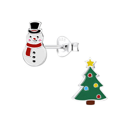 Wholesale Sterling Silver Christmas Holiday Ear Studs - JD9954
