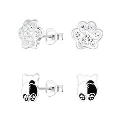 Wholesale Sterling Silver Dog Lovers Ear Studs Set - JD9966