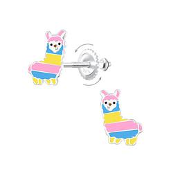 Wholesale Sterling Silver Alpaca Screw Back Ear Studs - JD6277