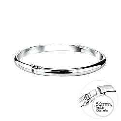Wholesale 5mm Sterling Silver Bangle - JD10113
