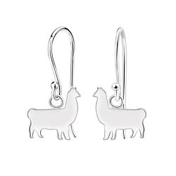 Wholesale Sterling Silver Llama Earrings - JD5184