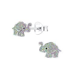 Wholesale Siver Elephant Ear Studs - JD9491