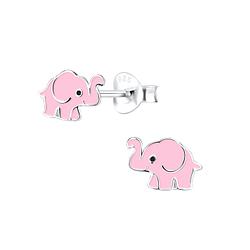 Wholesale Siver Elephant Ear Studs - JD9495