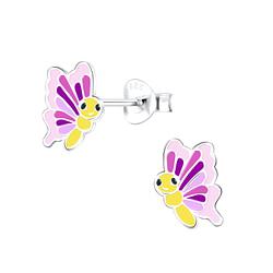 Wholesale Sterling Silver Butterfly Ear Studs - JD9387