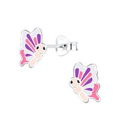 Wholesale Sterling Silver Butterfly Ear Studs - JD9386