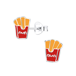 Wholesale Sterling Silver French Fries Ear Studs - JD9368