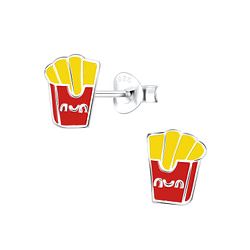 Wholesale Sterling Silver French Fries Ear Studs - JD9126