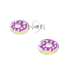 Wholesale Sterling Silver Donut Ear Studs - JD9404
