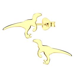 Wholesale Sterling Silver Velociraptor Dinosaur Ear Studs - JD9569