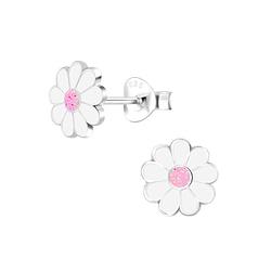 Wholesale Sterling Silver Daisy Flower Ear Studs - JD6011