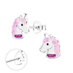 Wholesale Sterling Silver Unicorn Ear Studs - JD10503