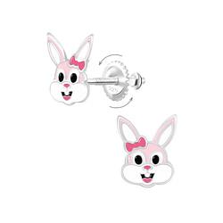 Wholesale Sterling Silver Bunny Screw Back Ear Studs - JD9361