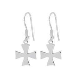 Wholesale Sterling Silver Cross Earrings - JD1362