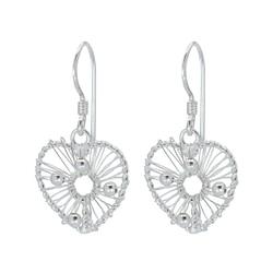 Wholesale Sterling Silver Heart Earrings - JD1379