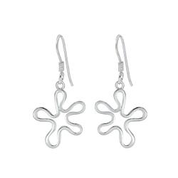 Wholesale Sterling Silver Flower Earrings - JD1398