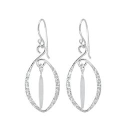 Wholesale Sterling Silver Oval Earrings - JD1401