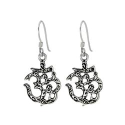 Wholesale Sterling Silver Om Sign Earrings - JD1410