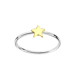 Wholesale Sterling Silver Star Ring - JD7133