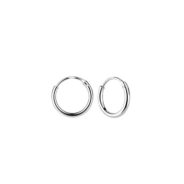 Wholesale 10mm Sterling Silver Ear Hoops - JD1311