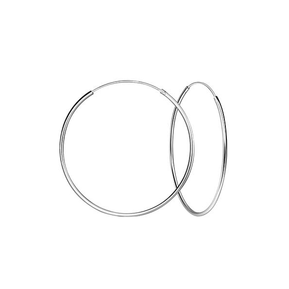 Wholesale 45mm Sterling Silver Ear Hoops - JD1327