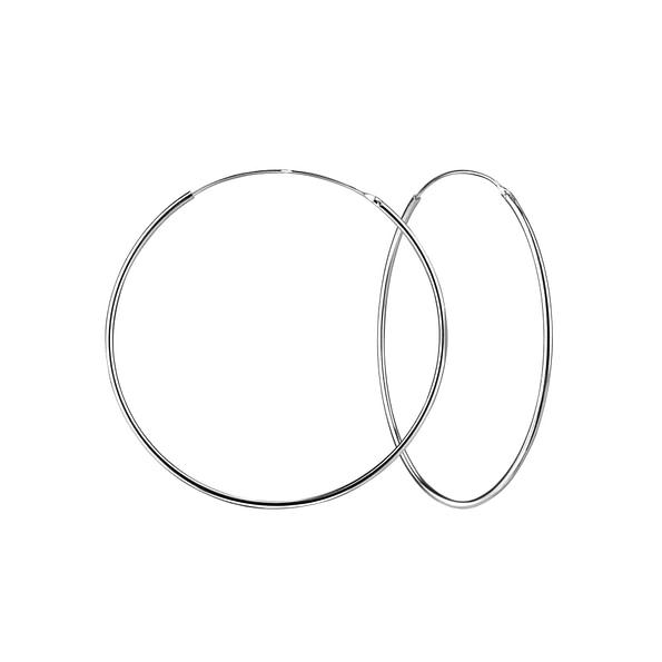 Wholesale 55mm Sterling Silver Ear Hoops - JD1329