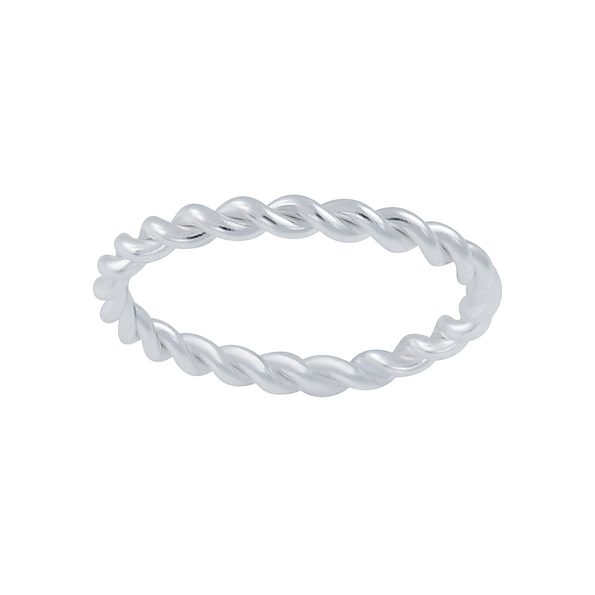 Wholesale Sterling Silver Twisted Band Ring - JD2651