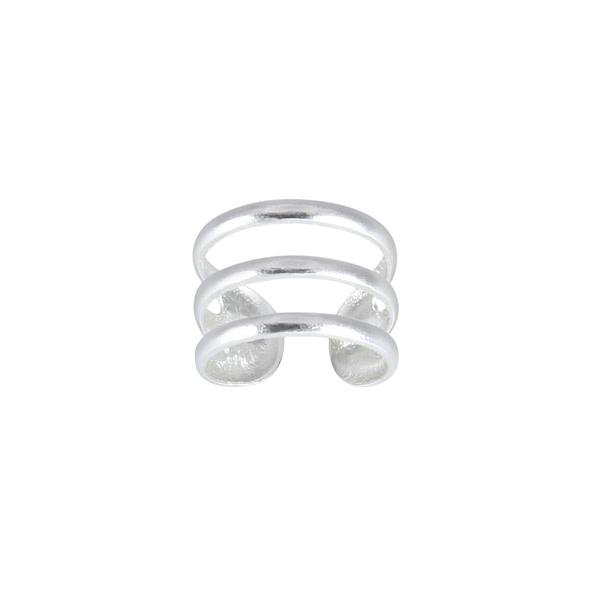 Wholesale Sterling Silver Triple Line Ear Cuff - JD3222