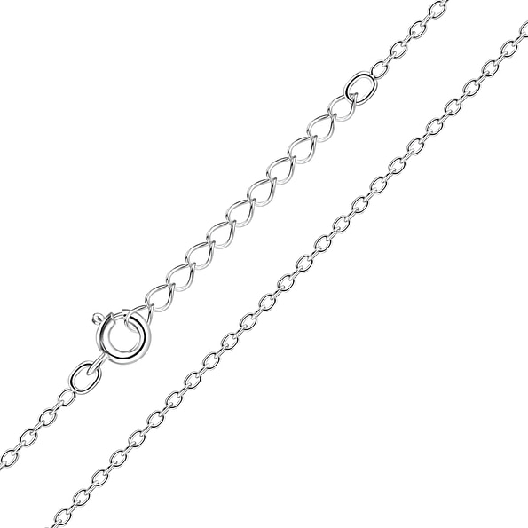 Wholesale 41cm Sterling Silver Extendable Cable Chain - JD3739
