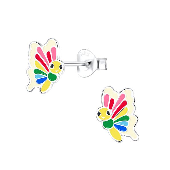Wholesale Sterling Silver Butterfly Ear Studs - JD9388