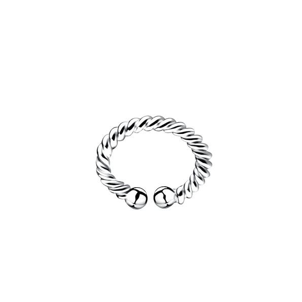 Wholesale Sterling Silver Twisted Ear Cuff - JD9476