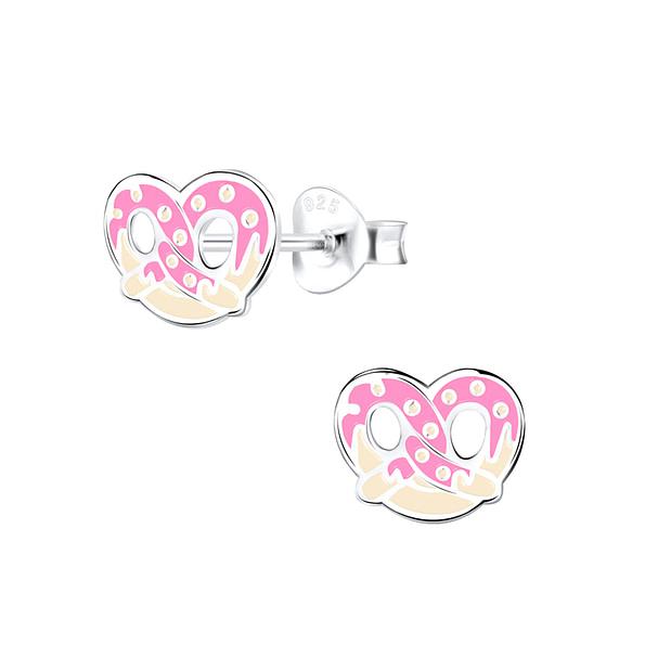 Wholesale Sterling Silver Pretzel Ear Studs - JD9420