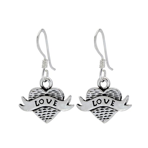 Wholesale Sterling Silver Heart Earrings - JD1382