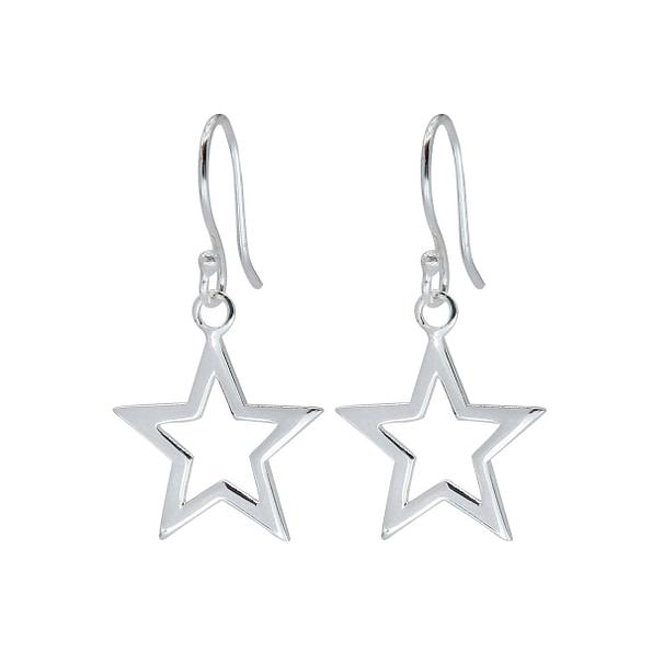 Wholesale Sterling Silver Star Earrings - JD1387