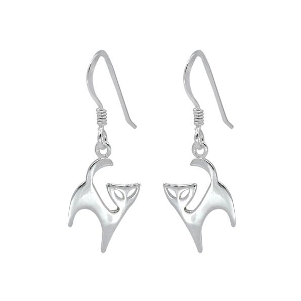 Wholesale Sterling Silver Cat Earrings - JD1403